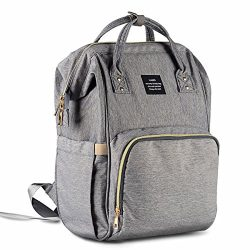 HaloVa Diaper Bag Multi-Function Waterproof Travel Backpack Nappy Bags for Baby Care, Large Capa ...