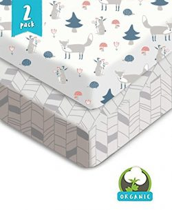Bouncy Baby Fox & Chevron Pack N Play Sheets – Organic & Shrink-Resistant, Unisex  ...
