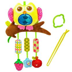Biubee Baby Stroller Toys with Wind Chime – Infant Hanging Owl Toys for Crib Bed Bassinet  ...