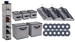 Delta Children Nursery Storage 48 Piece Set, Navy