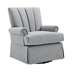 Baby Relax Parsons Swivel Glider, Dove Gray