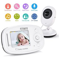 Video Baby Monitor, Fitnate Wireless Baby Monitor with Night Vision Digital Camera, Temperature  ...