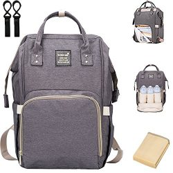 Diaper Bag Backpack, Multi-Function Waterproof Baby Diaper Bag with Changing Pad and Stroller St ...