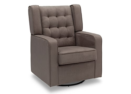 delta furniture paris upholstered glider swivel rocker chair graphite babiesme babiesme. Black Bedroom Furniture Sets. Home Design Ideas