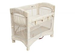 Arm's Reach Concepts Mini Ezee 2-in-1 Bedside Bassinet – Natural