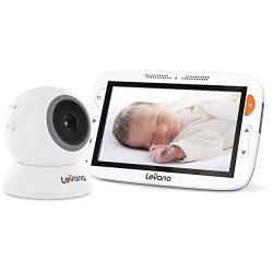 "Levana Alexa 5"" LCD Video Baby Monitor with 12 Hour Battery Life, Night Vision Camera, Feeding/N ..."