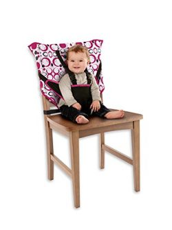 Cozy Cover Easy Seat – Portable Travel High Chair and Safety Seat for Infants and Toddlers (Pink)