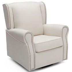 Delta Children Middleton Upholstered Glider Swivel Rocker Chair, Cream