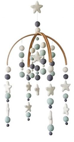 Tik Tak Design Co. Baby Crib Mobile – 100% NZ Wool Colored Felt Ball Mobile for Your Boy or Girl ...