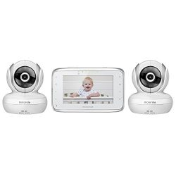 Motorola MBP38S-2 Digital Video Baby Monitor with 4.3-Inch Color LCD Screen and 2 Cameras with R ...