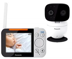 PANASONIC Video Baby Monitor with 2 Way Talk, Extra Long Range, Clear Night Vision, Lullaby & ...