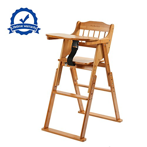 wooden folding baby high chair with tray adjustable bamboo height chair babiesme babiesme. Black Bedroom Furniture Sets. Home Design Ideas