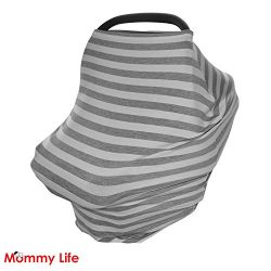 Baby Car Seat Canopy, Nursing Cover, Shopping Cart and Stroller Cover for boys and girls with Po ...