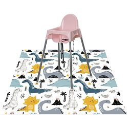 Splat Mat for Highchair for Babies and Toddlers (Dinosaur Land)