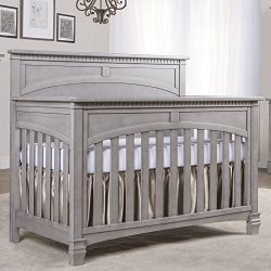 Evolur Santa Fe 5-in-1 Convertible Crib and Double Dresser with 260 Coil Crib & Toddler matt ...