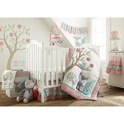 Levtex Baby Fiona 5 Piece Crib Bedding Set, Quilt, 100% Cotton Crib Fitted Sheet, 3-tiered Dust  ...