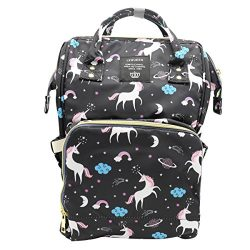 Genuva Diaper Bag Multi-function Baby Diaper Backpack Nappy Bags, Mom Dad Travel Backpack Large  ...
