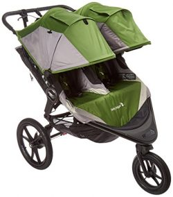 Baby Jogger 2016 Summit X3 Double Jogging Stroller – Green/Gray