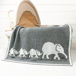 Luerme ChildrenKnittingBlanket Throws All Season RhomboidsCrochetRug Mat Warm Quilt Cuddle R ...