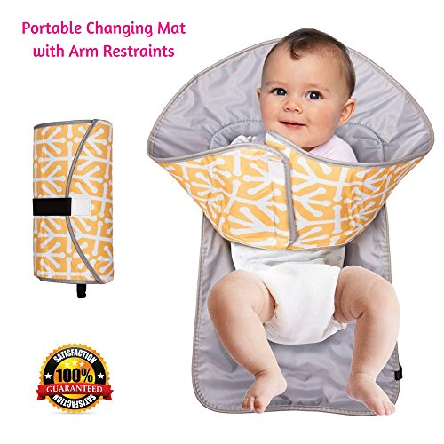 Portable Diaper Changing Pad Clutch With Barrier For