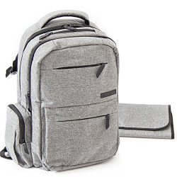 Diaper Bag Backpack – Multi-function Baby Organizer with Stroller Straps, Large Changing P ...