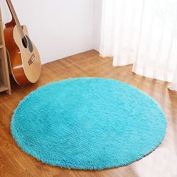 YJ.GWL Ultra Soft Round Rugs for Bedroom Anti-slip Shaggy Kids Room Carpets Children Play Tent M ...