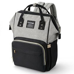Baby Diaper Bag Backpack Nappy Tote Bag with Insulation Pockets Large Capacity Waterproof, for M ...
