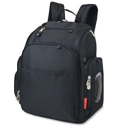 Fisher Price Fastfinder Diaper Bag Backpack (Black)