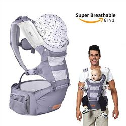Bable Baby Carrier & Baby sling with Hip Seat, Upgraded Version Special for Spring and Summe ...
