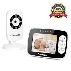 """Video Baby Monitor with LCD Display, Anmade Wireless Digital Camera, 3.5"""" Infrared Night Vision, ..."""