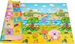 Baby Care Play Mat Foam Floor Gym – Non-Toxic Non-Slip Reversible Waterproof, Pingko and F ...