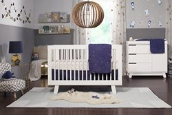 Babyletto 5-Piece Nursery Crib Bedding Set, Fitted Crib Sheet, Crib Skirt, Play Blanket, Contour ...
