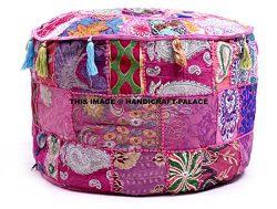 Indian Traditional Home Decorative Ottoman Handmade Pouf,Indian Comfortable Floor Cotton Cushion ...