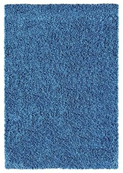 Ottomanson Cozy Color Solid Shag Contemporary Living and Bedroom Soft Shaggy Area Kids Rugs (5&# ...