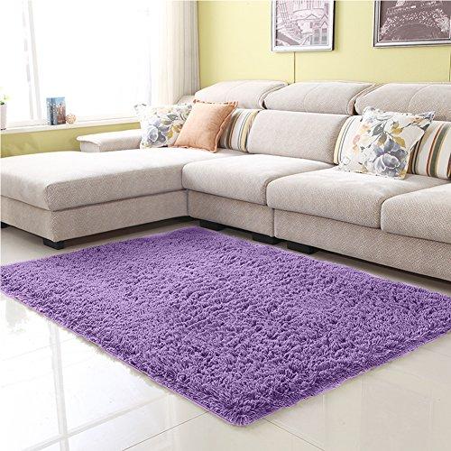 junovo ultra soft contemporary fluffy thick indoor area rug for home decor living room bedroom. Black Bedroom Furniture Sets. Home Design Ideas