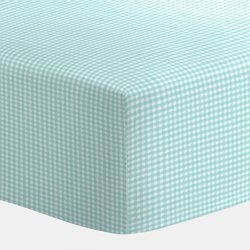 BabyDoll Gingham Bassinet Sheet, Green, 17″x31″