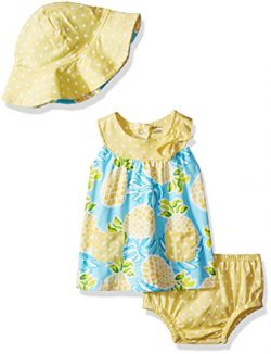 Gerber Baby Girls 3 Piece Dress Set, Pineapple, 24 Months