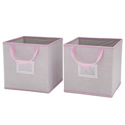 Delta Children 2 Count Nursery Organizer Bin Set, Infinity Pink