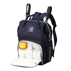 AISPARKY Diaper Bag Backpack Multi-Function Waterproof Travel Nappy Bag for Baby Care, Large Cap ...