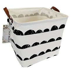 FANKANG Square Storage Bins 13 Inch Well Standing Toy Chest Baskets with Waterproof Coating, Lau ...