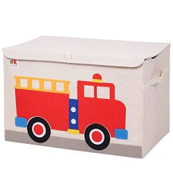 Wildkin Olive Kids Fire Truck Toy Chest, One Size