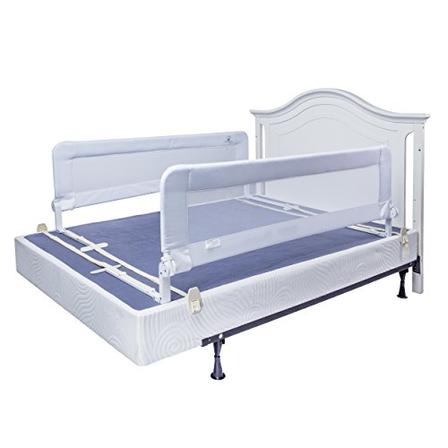 toddler bed rail guard for convertible crib kids twin double full size queen king white xl. Black Bedroom Furniture Sets. Home Design Ideas