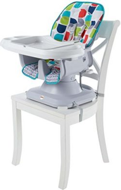 Fisher-Price SpaceSaver High Chair, Color Climbers [Amazon Exclusive]