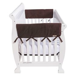 Trend Lab Waterproof CribWrap Rail Cover – For Wide Side Crib Rails Made to Fit Rails up t ...