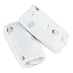 Aden by Aden + Anais Car Seat Strap Covers, Goodnight owl, 2-Pack