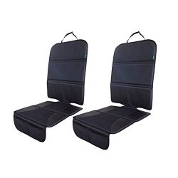 Car Seat Protector 2 Pack for Child Car Seat, Auto Seat Cover Pad under Baby Carseat –Best Prote ...