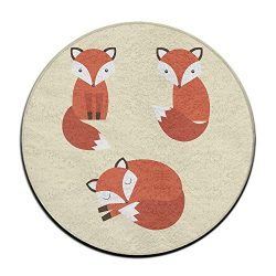 Yiot Fox Design Ultra Soft Indoor Modern Area Rugs Fluffy Living Room Carpets Suitable For Child ...