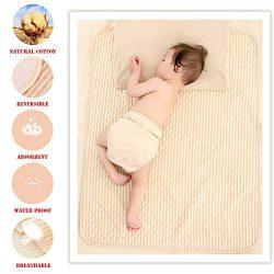 Organic Cotton Waterproof Newborn Infant Baby Bassinet Bedding Mattress Pads Bed Wet Diaper Crad ...