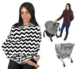 Baby Car Seat Cover Nursing Cover Breastfeeding Cover Scarf Baby Infant Multi use-Stroller Canop ...