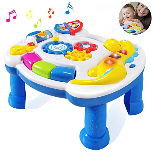 HOMOFY Baby Toys Musical Learning Table 6 Months up-Early ...